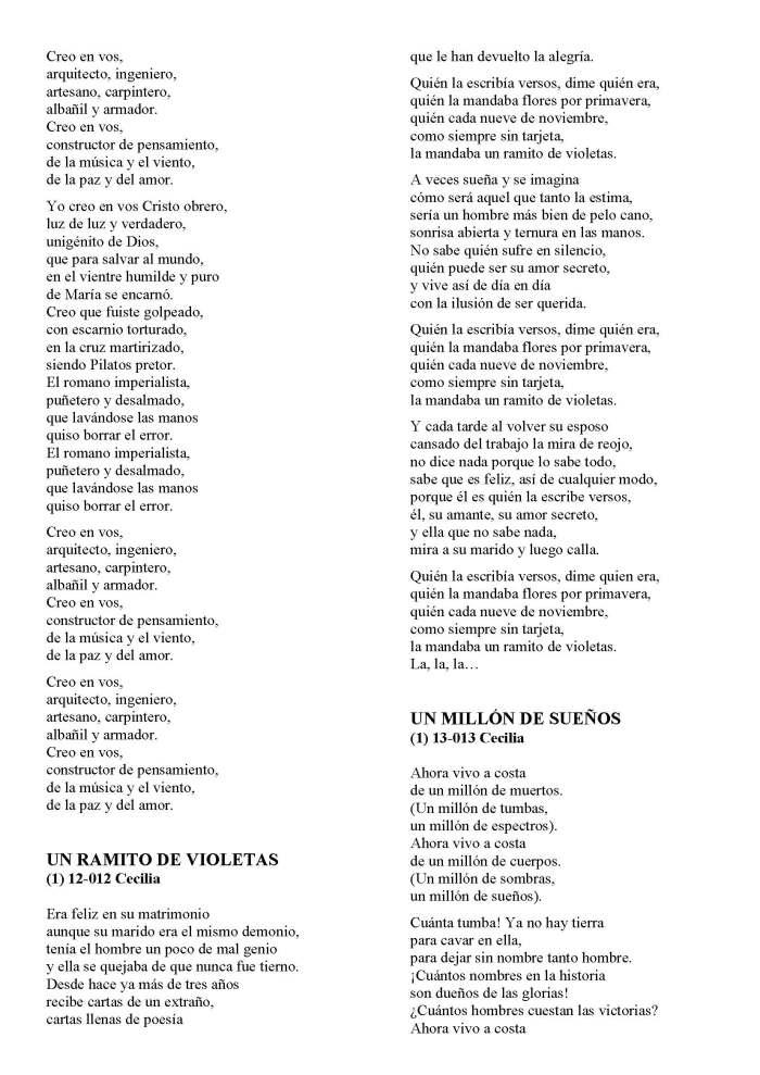 LA SOLIDARIDAD... Nº 8 Letras de canciones..._Página_11